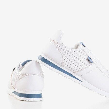 Белая женская спортивная обувь с синими вставками Dramena - Обувь