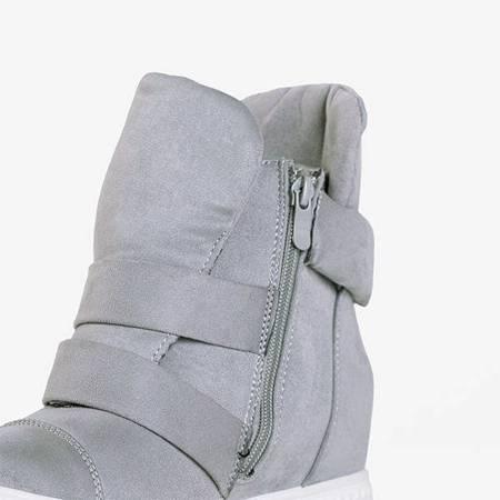 Бело-серые кроссовки на внутренней танкетке Brisbane - Обувь