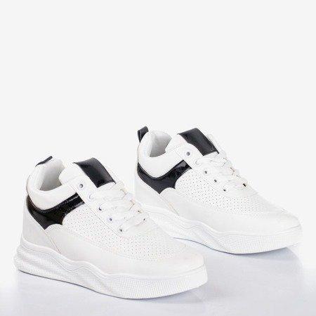 Бело-черные кроссовки на внутренней танкетке Fassia - Обувь
