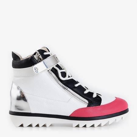 Белые спортивные ботинки с коралловыми вставками Krillas