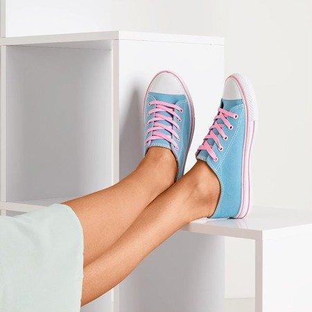 Голубые кроссовки с розовыми шнурками Fips - Обувь