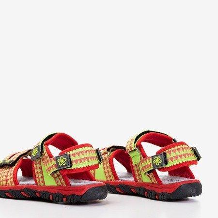 Детские красные сандалии с неоновыми вставками Yoci - Обувь