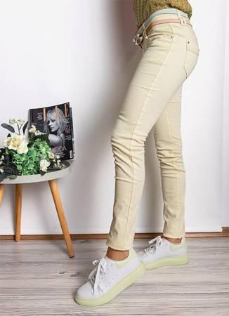 Желтые женские узкие брюки - Одежда