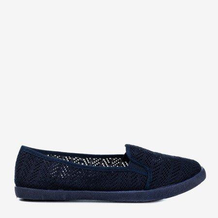 Женская ажурная комбинация темно-синего цвета - на Hessani - Обувь