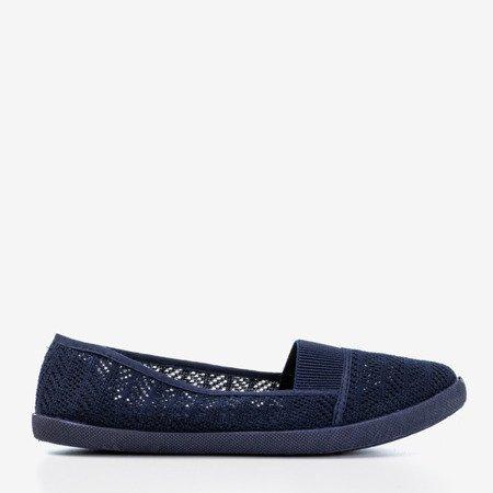 Женская ажурная комбинация темно-синего цвета - на Heyan - Обувь