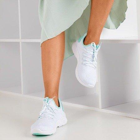 Женская белая спортивная обувь с мятными вставками Toledo - Обувь