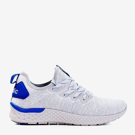 Женская светло-серая спортивная обувь с синими вставками Toledo - Обувь