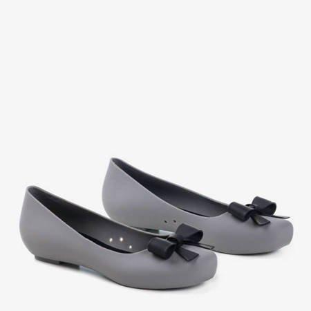 Женская серая резиновая мелисса на скрытом каблуке-танкетке Rasilia - Обувь
