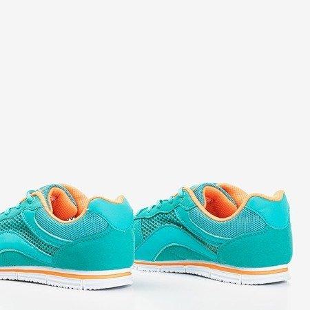 Женская спортивная обувь бирюзового цвета с оранжевыми вставками. Kannasi - Обувь