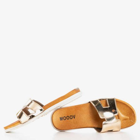Женские золотые тапочки Hemoq - Обувь