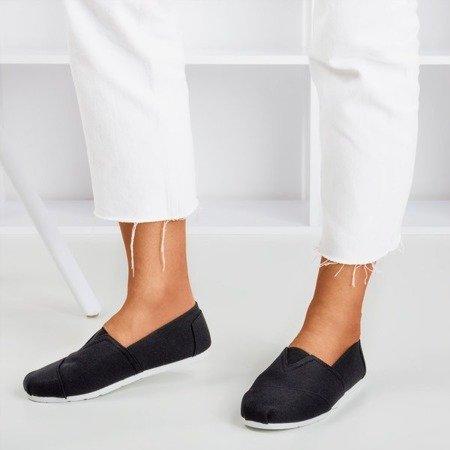 Женские черные мокасины Slavarina - Обувь