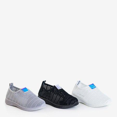 Женские черные слипоны на кроссовках Syio - Обувь