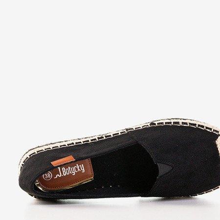 Женские черные эспадрильи на платформе Bergen - Обувь