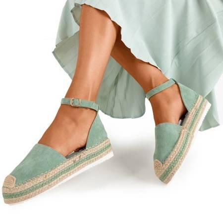 Зеленые женские сандалии на платформе Mora - Обувь