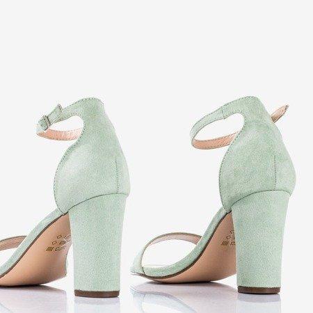 Зеленые женские сандалии на столбике Sweet Honey - Обувь