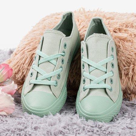 Кеды женские светло-зеленые Лыш - Обувь