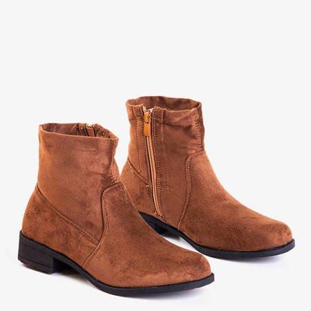 Коричневые ботильоны Gemina на низком каблуке - Обувь