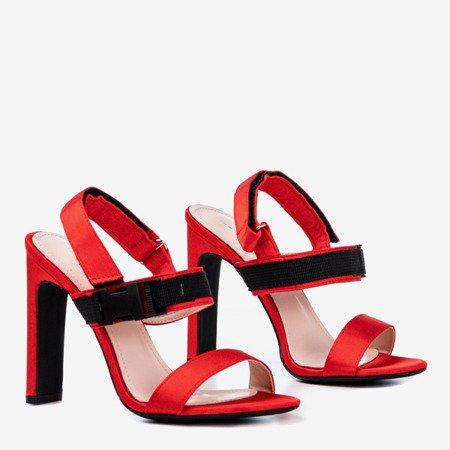 Красные сандалии на липучке spolisa - Обувь