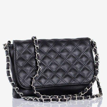 Маленькая стеганая сумка через плечо черного цвета - Сумки