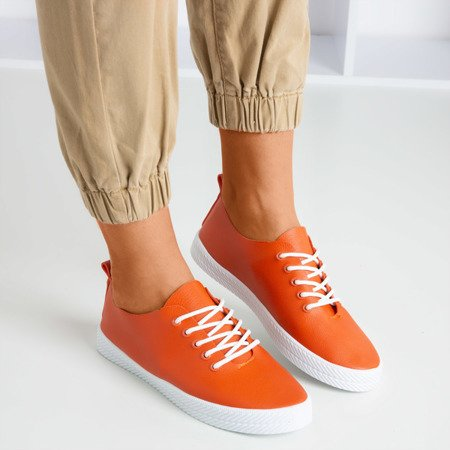 Оранжевые кроссовки на шнуровке Ewilia - Обувь