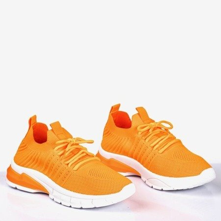 Оранжевые неоновые женские кроссовки Brighton