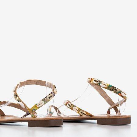Разноцветные женские сандалии с ракушками Melreu - Обувь