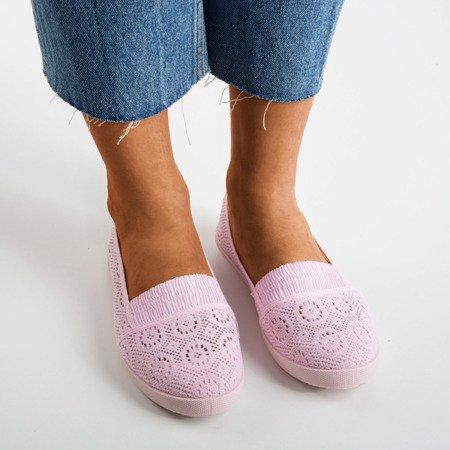 Розовые балетки из ткани Noremies - Обувь