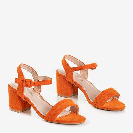 Сандалии женские оранжевые на невысокой стойке Niusty - Обувь