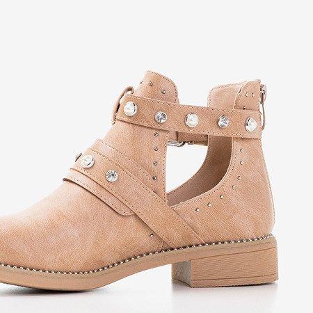 Сапоги женские коричневые с вырезами Zoran - Обувь