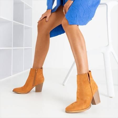 Светло-коричневые ботильоны на каблуке Mevelyno - Обувь