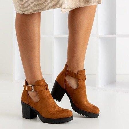Светло-коричневые ботильоны с вырезами Barra - Обувь