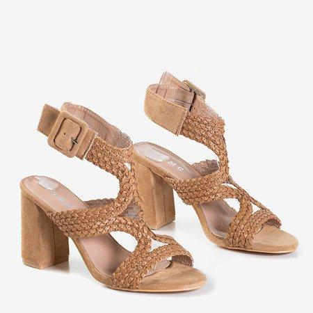 Светло-коричневые сандалии на верхней стойке Viesia - Обувь