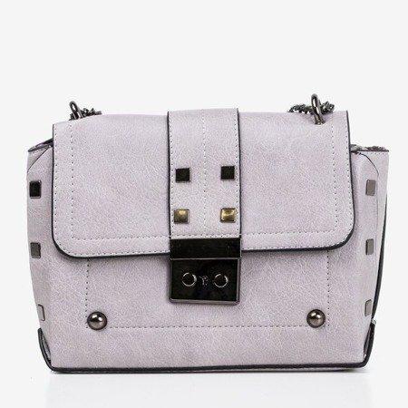 Серая маленькая сумка через плечо - Сумочки