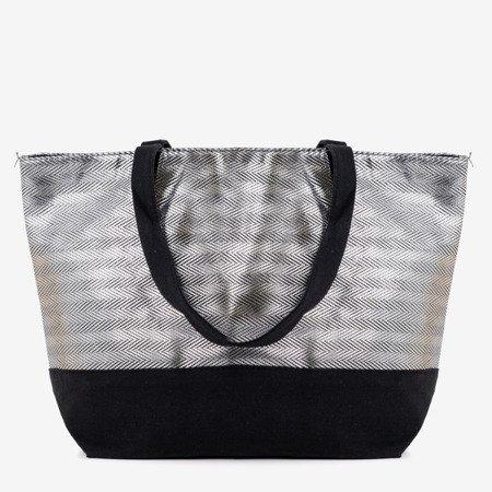 Серо-черная сумка через плечо - Сумки