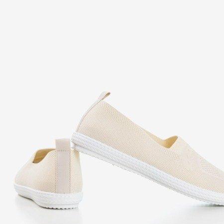 Спортивные слипоны Tolva бежевого цвета Обувь