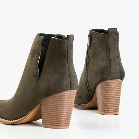 Темно-зеленые ботильоны на каблуке Mevelyno - Обувь