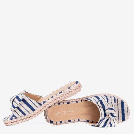Темно-синие женские сандалии в полоску Calina - Обувь