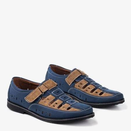 Темно-синие и коричневые мужские туфли Lenni - Обувь