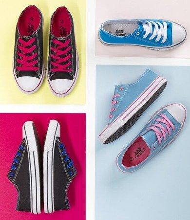 Темно-синие кроссовки с розовыми шнурками Fips - Обувь