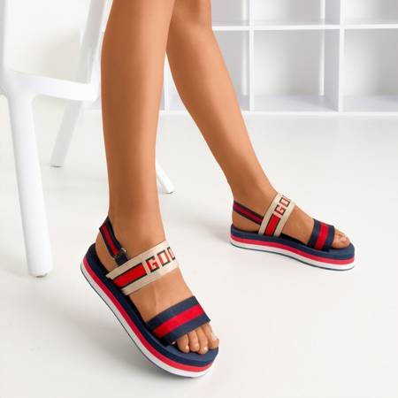 Темно-синие сандалии на платформе Calybe - Обувь