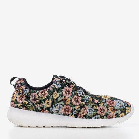 Черная женская спортивная обувь с цветочным рисунком Floena - Обувь