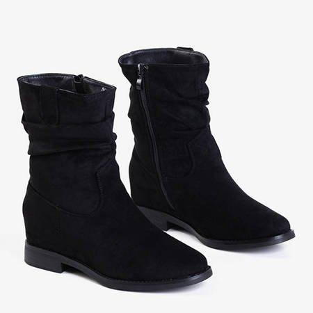 Черные ботинки на внутренней танкетке Britsum - Обувь