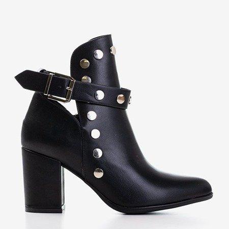 Черные женские ботильоны с вырезами Violuts - Обувь
