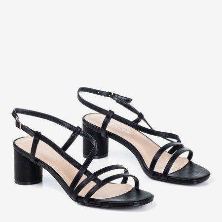 Черные женские сандалии на низкой стойке Marina - Обувь