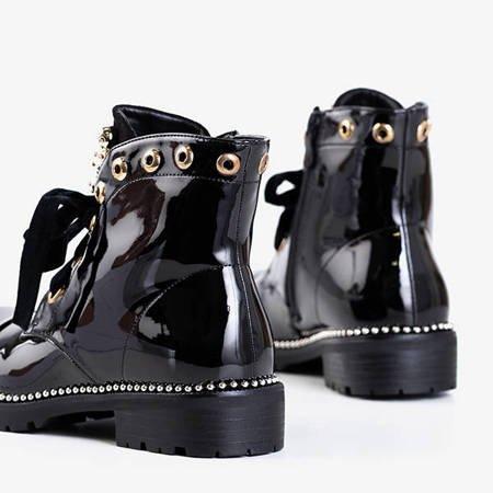 Черные лакированные сумки с орнаментом Винкега - Обувь