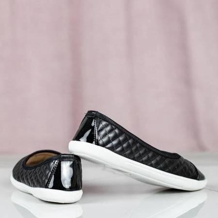 Черные слипоны со стеганым верхом Fatima - Обувь