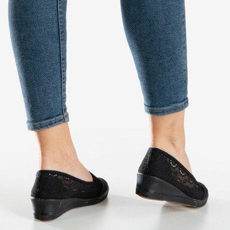 Черные туфли Paciencia на танкетке - Обувь
