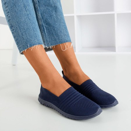 женские слипоны темно-синего цвета Colorful - Footwear