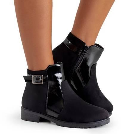 женские черные сапоги с пряжкой Konzuma - Обувь