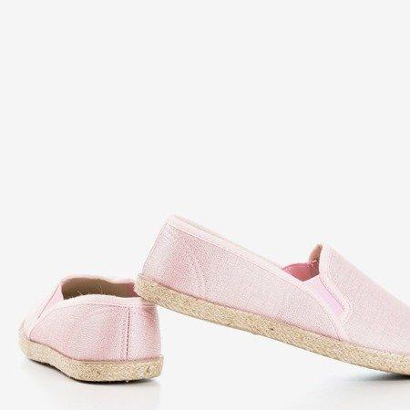 женские эспадрильи Kallos розового цвета с джутовым шнуром - Обувь